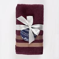 """Набор полотенец Нордтекс """"Aquarelle. Исландия"""", цвет: темно-бордовый, 2 предмета"""