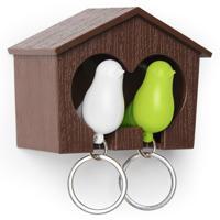 """Держатель для ключей """"Sparrow"""", цвет: белый, зеленый"""