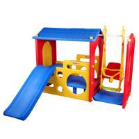 """Детский игровой комплекс Haenim Toy DS-703 """"Домик с горкой и качелями"""", цвет: синий, арт: HT_DS-703"""