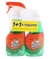 """Средство для мытья стекол и поверхностей Мистер Мускул """"Утренняя роса"""", 500 мл + сменная бутылка"""