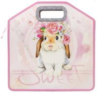 """Папка с ручками """"Sweet Bunny"""", 1 отделение, пластик, 35х34х13 см, молния сверху"""