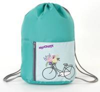 """Сумка для обуви """"Bicycle"""", на шнурке, карман на молнии, 33х42 см"""