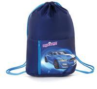 "Сумка для обуви ""BlueCar"", на шнурке, карман на молнии, 33х42 см"