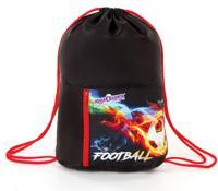 "Сумка для обуви ""Fireball"", на шнурке, карман на молнии, 33х42 см"