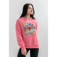 """Толстовка """"Венецианская сова"""", цвет: розовый, размер: S/M"""
