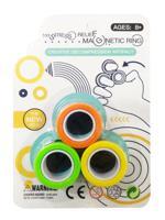 """Игрушка """"Магнитные кольца"""" (цвет: оранжевый/желтый/зеленый)"""