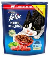 """Сухой корм для кошек Felix """"Мясное объедение"""", с говядиной, 600 г"""