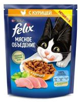 """Сухой корм для кошек Felix """"Мясное объедение"""", с курицей, 200 г"""