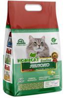 """Комкующийся наполнитель для кошачьего туалета Homecat """"Эколайн. Яблоко"""", с ароматом яблока, 6 л"""