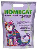 """Силикагелевый наполнитель для кошачьих туалетов Homecat """"Лаванда"""", 30 л"""