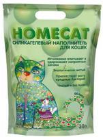 """Силикагелевый наполнитель для кошачьих туалетов Homecat """"Яблоко"""", 30 л"""