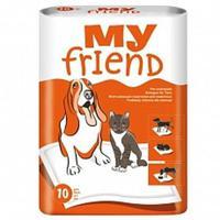 """Подстилки для животных впитывающие """"MY FRIEND"""", 60х60 см, 10 штук"""