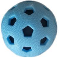 """Игрушка для собак Homepet """"Мяч футбольный"""", с пищалкой, 7,2 см"""