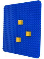 """Пластина для конструктора """"Baseplate"""", 38x38 см (синий)"""