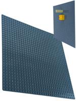 "Пластина для конструктора ""Baseplate"", 25,5x25,5 см (серая)"