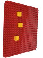 """Пластина для конструктора """"Baseplate"""", 38x38 см (красный)"""