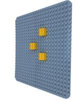 """Пластина для конструктора """"Baseplate"""", 38x38 см (светло-серая)"""