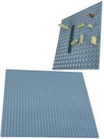 "Пластина для конструктора ""Baseplate"", двухсторонняя, 25,5x25,5 см (светло-серая)"