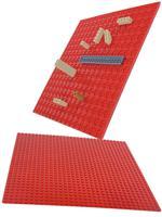 "Пластина для конструктора ""Baseplate"", двухсторонняя, 25,5x25,5 см (красная)"
