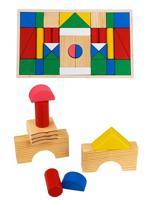 """Деревянная игрушка """"Конструктор. Цветные строительные блоки"""""""