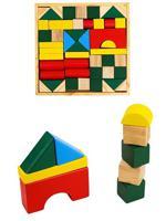 """Деревянная игрушка """"Конструктор medium. Цветные строительные блоки"""""""