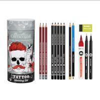 """Набор для скетчинга """"Tattoo Sketching Set"""", 14 предметов"""