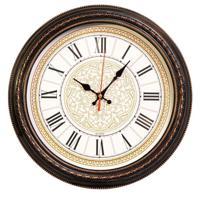Часы настенные Бюрократ WALLC-R68P, коричневые