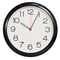 Часы настенные Бюрократ WALLC-R78P, черные