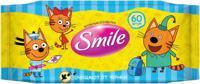 """Влажные салфетки SMILE """"Три Кота"""", 60 штук"""