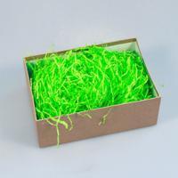 """Наполнитель для упаковки подарков (стружка из бумаги) """"Волна"""", цвет: зелёное яблоко"""
