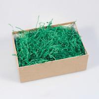 """Зелёный наполнитель для упаковки подарков (стружка из бумаги) """"Волна"""""""