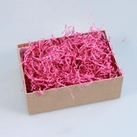 """Малиновый наполнитель для упаковки подарков (стружка из бумаги) """"Волна"""""""