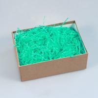 """Мятный наполнитель для упаковки подарков (стружка из бумаги) """"Волна"""""""