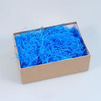 """Синий наполнитель для упаковки подарков (стружка из бумаги) """"Волна"""""""