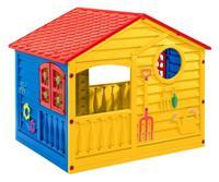 Домик игровой (цвет: красный/синий/желтый)