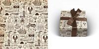 """Бумага упаковочная """"Ретро стиль"""", 70x100 см, 1 лист"""