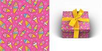 """Бумага упаковочная """"Мороженое"""", 70x100 см, 1 лист"""