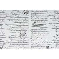 """Упаковочная крафт-бумага """"Пушкинские строки"""", 50 г/м2, 70 см x 10 м, арт. 69871"""