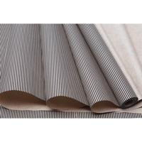 """Упаковочная бумага """"Полоска тонкая черная"""", 78 г/м2, 70 см x 10 м, арт. 72324"""