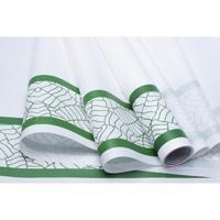 "Упаковочная бумага ""Кайма. Листья цветные зеленые"", 50 г/м2, 70 см x 10 м, арт. 75450"