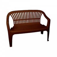 "Скамейка со спинкой ""Престиж"", 115x60x81 см, цвет: темно-коричневый"