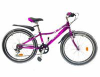 "Велосипед Novatrack ""Alice"", 24"", пурпурный"