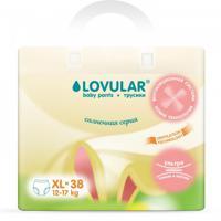 """Трусики-подгузники """"Lovular. Солнечная серия"""", размер XL (12-17 кг), 38 штук"""