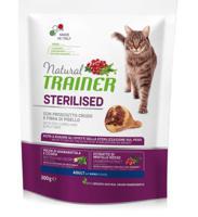 Сухой корм для стерилизованных кошек Trainer Natural, с сыровяленой ветчиной и клетчаткой гороха, 300 грамм
