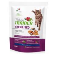Сухой корм для взрослых стерилизованных кошек Trainer Natural, с лососем и клетчаткой гороха, 300 грамм