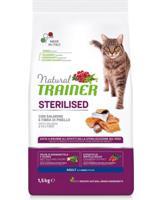 Сухой корм для взрослых стерилизованных кошек Trainer Natural, с лососем и клетчаткой гороха, 1,5 кг