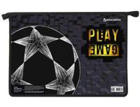 """Папка для труда """"Play Game"""", А4, 2 отделения, пластик, молния сверху"""