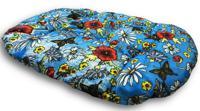 "Подушка для пластикового лежака Родные места ""Маки"" (размер 1), 45х33х5 см"