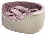 """Лежак для животных Homepet """"Violet"""", велюр, 49x49x22 см"""