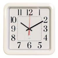 Часы настенные Бюрократ WAIIC-S79P, белые